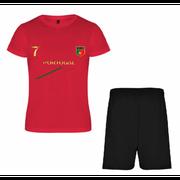 Ensemble de foot Portugal enfant news Taille 3 é 13 ans - 4 ans rouge