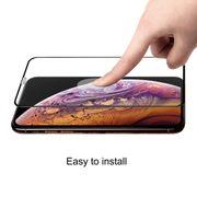 Pour iPhone X & XS- Hat-Prince Film en verre trempé plein écran courbé 0.26mm 9H 6D pour iPhone X / XS (Noir)