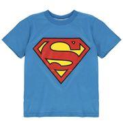 Superman T-Shirt Chemise Manche Courte Ras du Cou