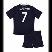 Ensemble short et maillot de foot FRANCE Officiel du joueur LACAZETTE - 4 ans bleu
