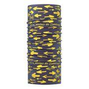 Buff Camino de Santiago High UV Protection Arrow Denim noir jaune