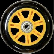 ROUE TROTINETTE VOLTA 100MM BLACK/YELLOW