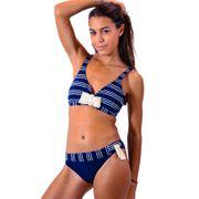 2862b94f43df Maillot de bain 2 Pièces Livia Triangle Dulcepisac Caldera Bonnet C Bleu  Marine