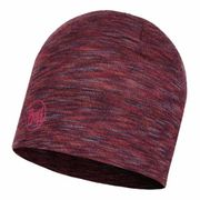 Bonnet Buff Midweight Merino Wool Hat Shale Grey Multi Stripes lilas multicolore