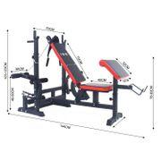 ISE Professionnel Banc de Musculation Multifonction Station d'entraînement Gym 6 Réglage en Hauteur