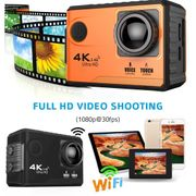 Caméra de sport- F100 Pro 4K WiFi Caméra d'Action Étanche Boîtier, de 2,0 pouces Écran, 170 Degrés grand Angle(Noir)