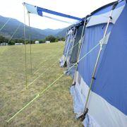 Montana 8 - Tente tunnel familiale - 8 Personnes - 700 x 280 cm - Bleu