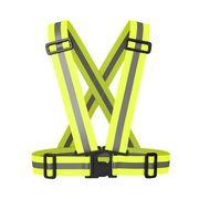 Ceinture jaune réfléchissante réglable pour piéton ou cycliste