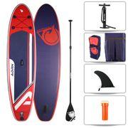 Stand up Paddle gonflable EXPLORER 10'8 (325cm) 32'' (81cm) 6'' (15cm) - SUP avec dérive centale et support caméra, livré avec pompe, Pagaie et Sac de transport