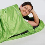 Skye - Sac de Couchage Rectangulaire - 220x75 cm - Jumelable - Vert -Zip Droit