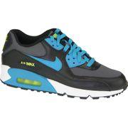 Nike Air Max 90 Gs 724824-004 U Baskets Noir,Bleu