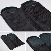 Skye - Sac de Couchage Rectangulaire - 220x75 cm - Jumelable - Noir -Zip Droit
