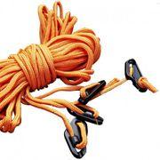 4 cordelettes orange fluo 2 mètres Regatta