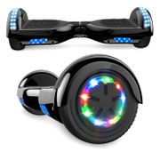 Cool&Fun Hoverboard Bluetooth 6.5 Pouces noir chromé, Gyropode Overboard Smart Scooter certifié