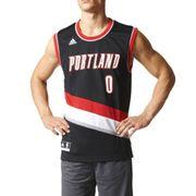 Maillot Replica D. Lillard Portland Trail Blazers Homme Noir Adidas