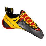 Chaussons d'escalade La Sportiva Genius rouge jaune