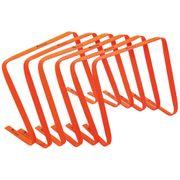 Precision Football Fitness Training Agility Flat Hurdles 15'' Orange (Set of 6)