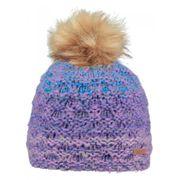 51fd5e426a63a BARTS-Bonnet maille chinée bleu lila pompon imitation fourrure enfant fille  3 au 10 ans