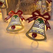 Lumière de fête-Guirlande de Noël peinte avec DEL de Noël, 1,8 m (Blanc chaud)