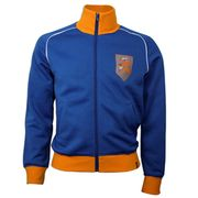 Holland 1970's Retro Veste polyester / cotton (bleu)