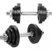 Gorilla Sports - Set d'haltères modulable 2 en 1 de 22 kg