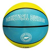 BALLON DE BASKET-BALL NEW PORT Ballon de basketball - Bleu et jaune - Taille 7