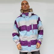 Veste  ski snowboard jacket  SPECIAL BLEND Control purple blue white 10K Du très bon pour les riders qui envoient l'bois !