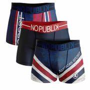 No Publik - Lot De 3 Boxers Microfibre Homme American Sport