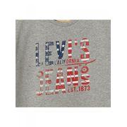 LEVI'S-T-shirt jersey de coton gris manches courtes ado garçon levi's