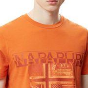 T-shirt Napapijri Sawy manche courte orange