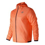 Veste coupe-vent New Balance Lite Packjaket Hooded orange - Veste fine