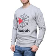 Sweat Reebok Ac Ft Big Starcrest Crew Dm5160 Gris