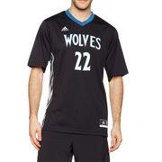 Minnesota Timberwolves Wiggins Homme  Maillot Basketball Noir Adidas