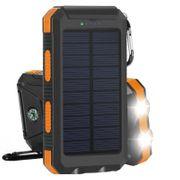 Batterie solaire double USB 10 000MAh couleur - Orange