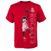 T-shirt NBA James Harden Houston Rockets Pixel pour enfants rouge taille - 7 ans