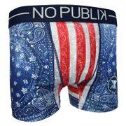 No Publik - Boxer Microfibre Homme Usa Bandana Flag