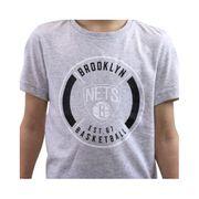 YB WSHD TEE 1 GRI - Tee shirt Basketball Brooklyn Nets Garçon Adidas