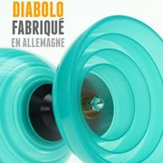 Diabolo Beach Free Turquoise + Baguettes Alu + 10m Ficelle Blanc + Sac