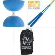 Diabolo Gyro Bleu + Baguettes Superglass Bleu + Sac NetJuggler