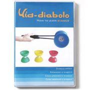Diabolo a roulements Bleu et Jaune + DVD + Baguettes Orange + Sac
