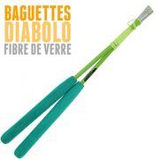 Diabolo Roulement Rouge + Baguettes Pro Vert + Sac + Ficelle Orange