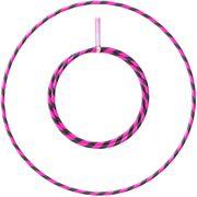 Hula Hoop 1m - 20mm pliable - Fushia et Noir
