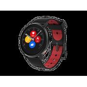 Montre connectée    Revolution  - cadran noir et bracelet rouge/noir