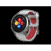 Montre connectée    Revolution   - cadran argent et bracelet rouge/noir