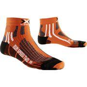 X-Socks chaussette en cours d'exécution Vitesse de course Deux Orange - X020432-O037