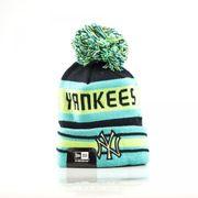 Bonnet MLB New York Yankees à pompon New Era Fashion Jake vert