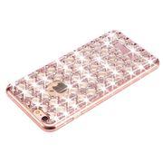 Housse coque de protection -Pour l'iPhone 6 et 6s Agate & Diamant Incrusté d'Électrodéposition de TPU de Protection Retour Cas de Couverture(Or Rose)