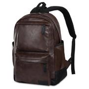 Vbiger Hommes PU Cuir Sac à dos de Voyage Sac à dos ordinateur Portable Sac à dos École Bookbag pour les Hommes