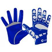 Gant de football américain Cutters REV Pro 3D 2.0 bleu taille - M