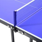Mini table de ping pong tennis de table pliable portable acier 153L x 77l x 67H cm bleu et noir neuf 82